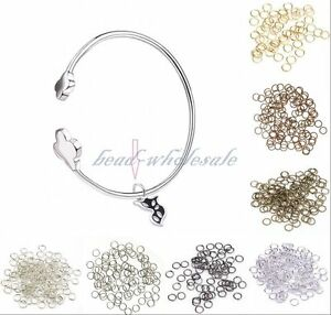 Silver-Gold-Plated-Open-Metal-Jumping-Rings-Finding-You-choose-color-size