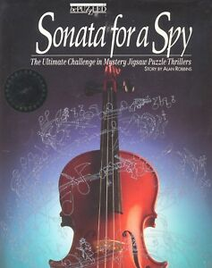 Sonata-for-a-Spy-Mystery-Jigsaw-Puzzle-Signed-by-Author-Birthday-Holiday-Gift