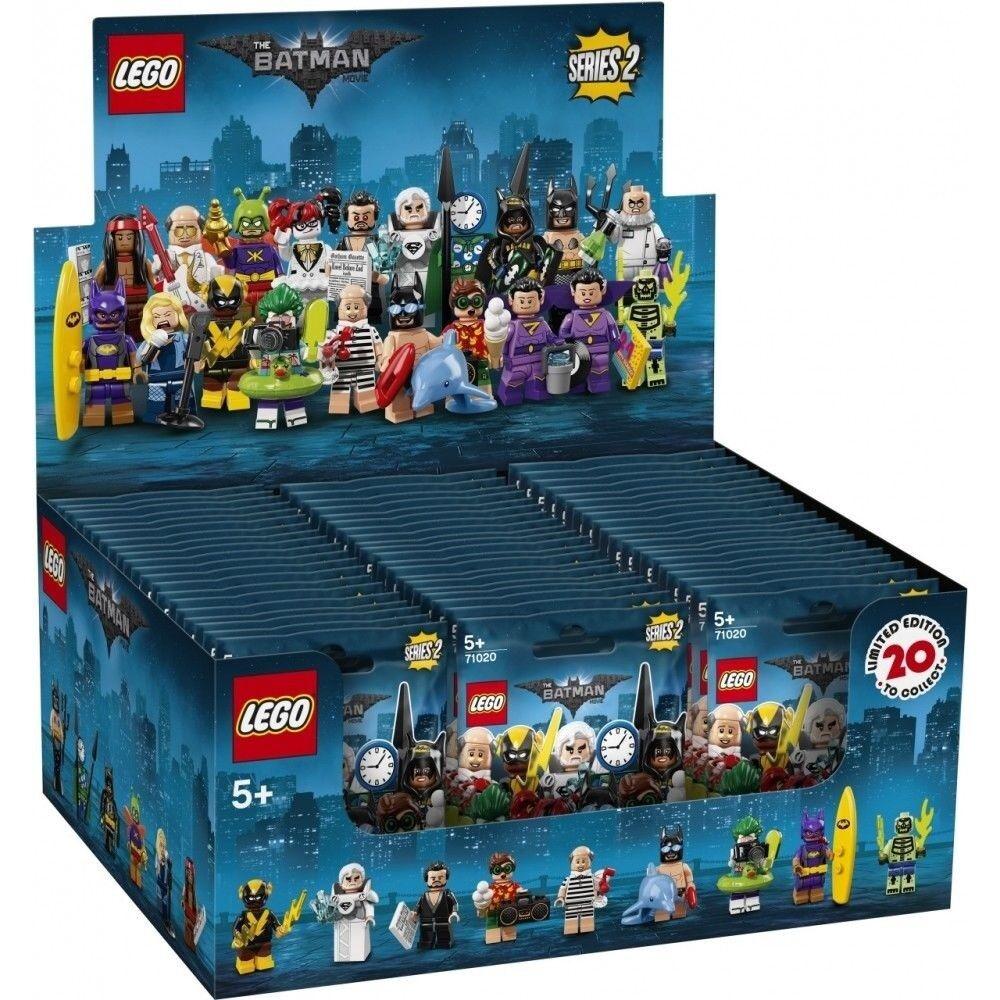 Lego Batman serie 2 cajas de 60 personas pequeñas selladas en cajas marróns 71020