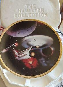 """""""U.S.S. ENTERPRISE NCC-1701"""" STAR TREK THE VOYAGERS * HAMILTON COLLECTION PLATE"""