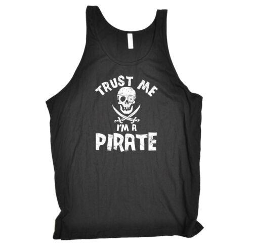 Funny Novelty Vest Singlet Top Trust Me Im A Pirate