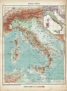 Cartina D Italia 1940.Carta Geografica Antica Italia Inizio 2 Guerra Mondiale 1940 Antique Map Ebay
