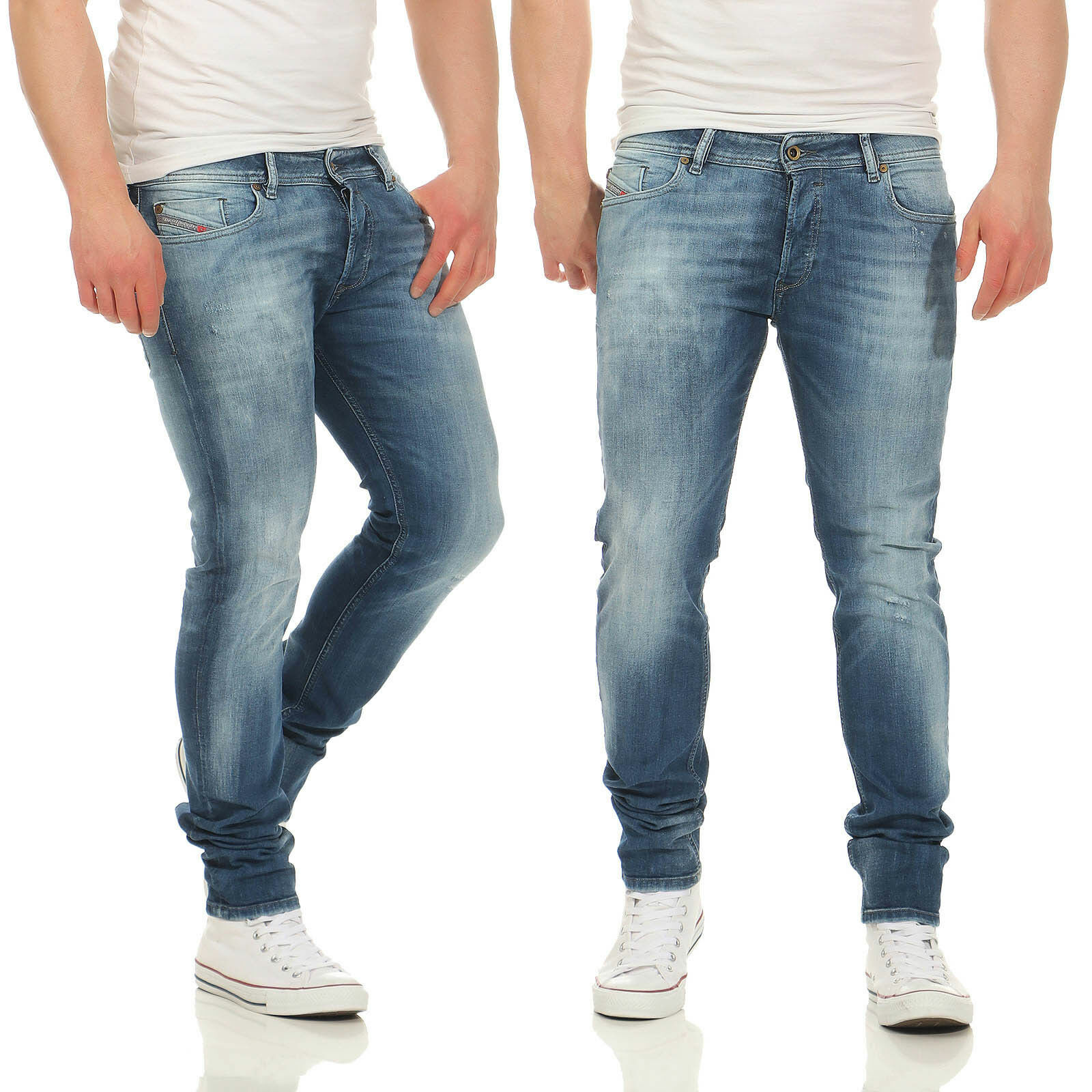 1528fa0050c1ce JEANS diesel sleenker 0860a Pantaloni Uomo Slim Skinny Blu Stretch Jeans A  Sigaretta