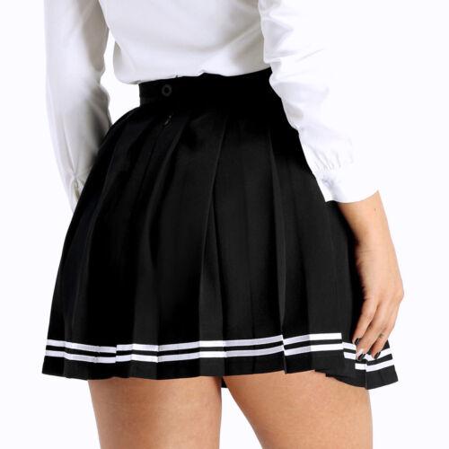 Womens Girls Mini Pleated Skirts Gymnastics Tennis Sports Dress School Uniform