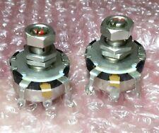 2 Clarostat Potentiometers 1k Variable Resistors Military Grade
