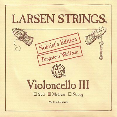 Musical Instruments & Gear Larsen Strings Cello Soloist's Tungsten Cello G String- Medium Free Shipping Orchestral