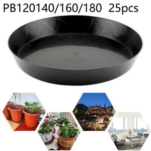 5x Plant-Pot Garden Round Flower Planter Plastic Pots And Saucer Tray Decor