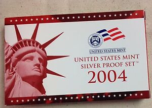 2004-US-MINT-SILVER-PROOF-SET-Complete-w-Original-Box-and-COA