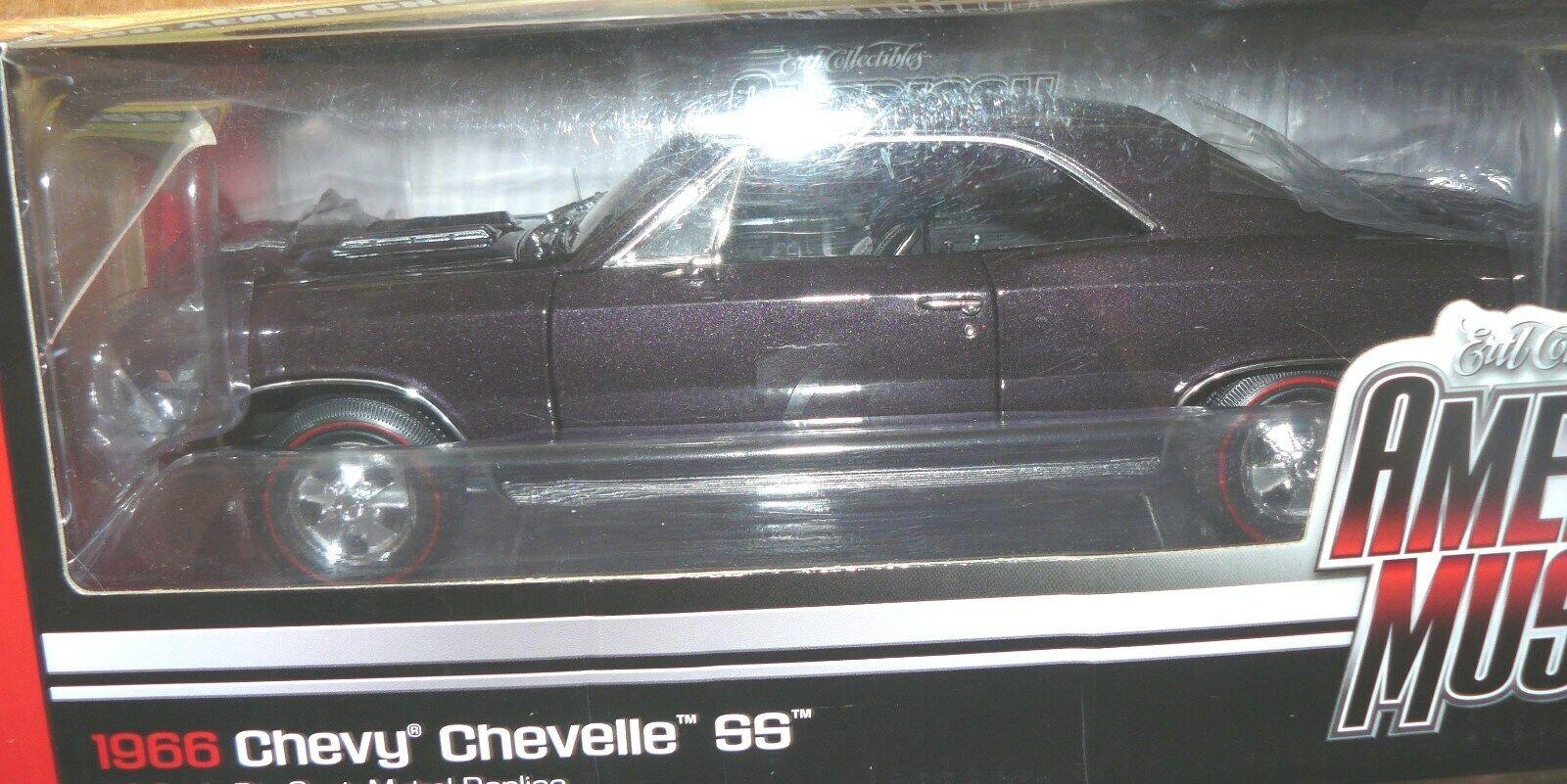 1 18  1966 Chevelle plum mist , missing 1 headlight lens , hardly noticeable