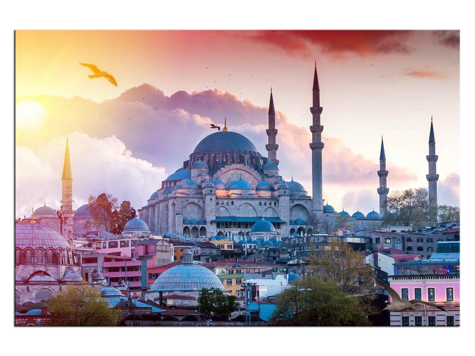 Blaue Moschee Istanbul Leinwandbilder auf Keilrahmen A06092 Wandbild Poster
