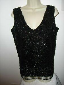 Vintage M sequin beaded top