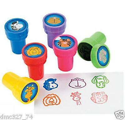 24 Birthday Party Favors ZOO Animal SAFARI ANIMALS MINI STAMPERS Stamps