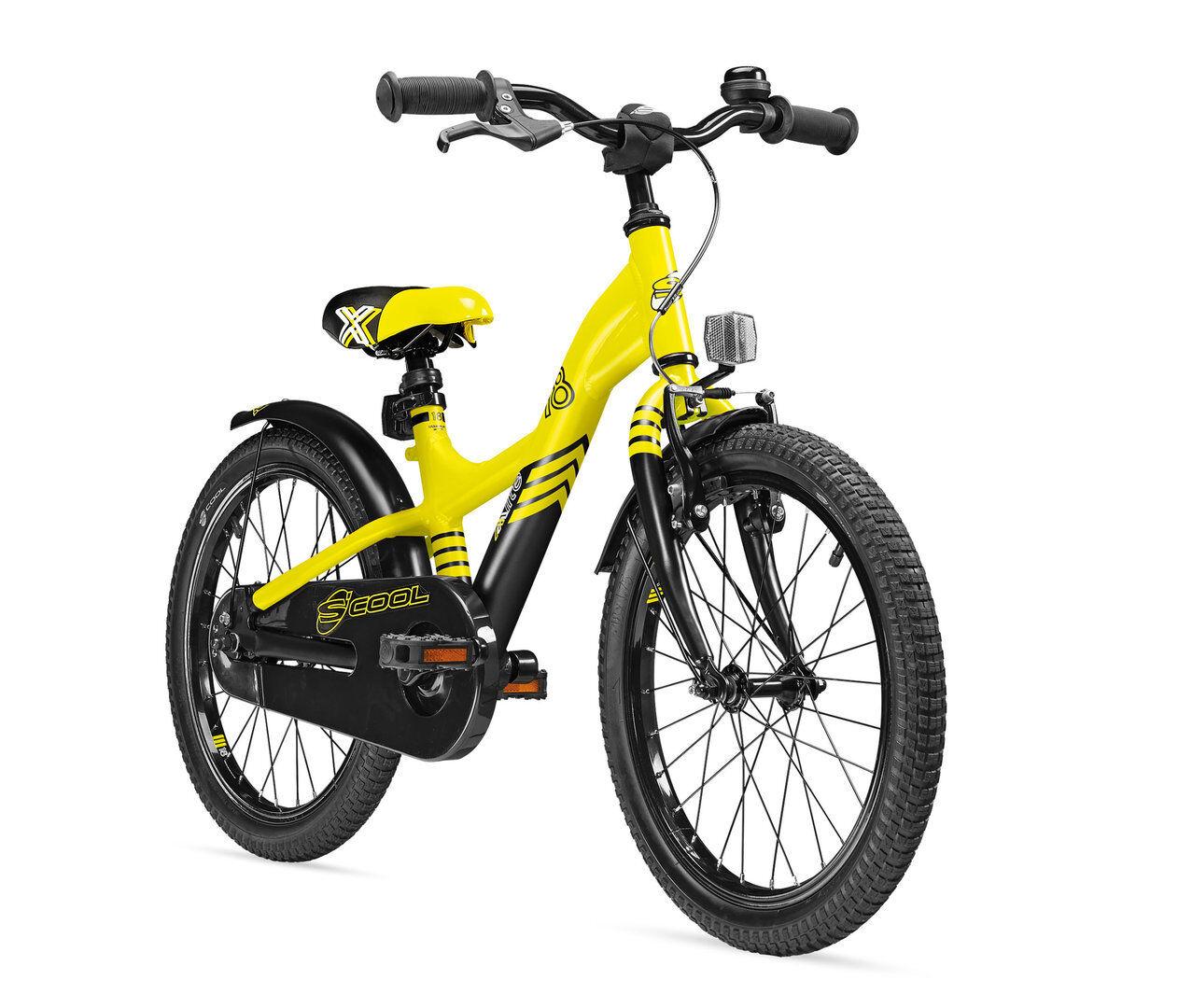Scool Kinderrad S'cool Kinderfahrrad XXlite 18 Zoll 1-Gang gelb    5033