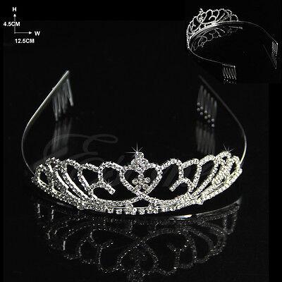 Wedding Bridal Comb Tiara Rhinestone Crystal Crown Pageant Prom Hair Headband
