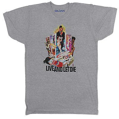 James Bond Inspired Live and Let Die Movie Film Crime Horror Retro T Shirt