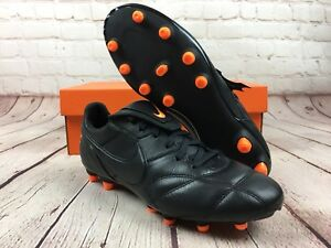 525eeed3a Nike Premier II FG Black Total Orange Kangaroo/Goat Leather SZ 7 ...