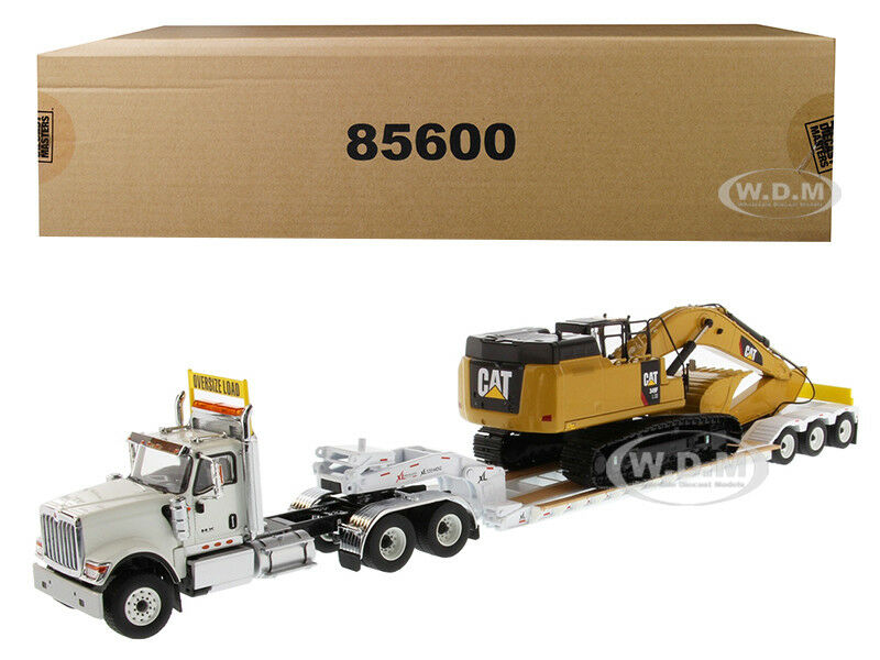 INTERNATIONAL HX520 W TRAILER & CAT 349F L XE 2PC SET 1 50 DIECAST MASTERS 85600