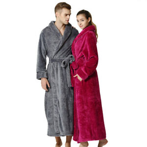84167c1951 Image is loading Mens-Womens-Supersoft-Luxurious-Coral-Fleece-Bath-Robe-