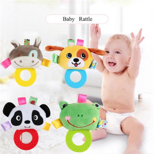 Newborn Cute Cotton Baby Rattles Infant Animal Hand Bell Kids Plush Toddler Toy