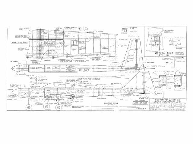 Direct Connection RC Ultimate Kaos 60 By Joe Bridi 63  Model Airplane Kit Plans
