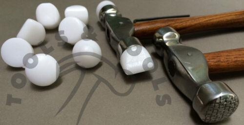 2 Pcs Nylon Conseils texturation marteau conception formant en métal argenté Smith REPOUSSEE