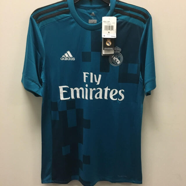 check out 38e50 c2c3a adidas Mens Real Madrid 3rd Jersey Short Sleeve 2017/2018 Br3539 2xl