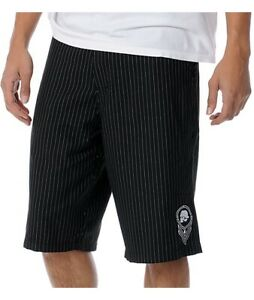 Metal-Mulisha-Men-s-Logistics-Striped-Chino-Shorts-Walkshort-Size-28
