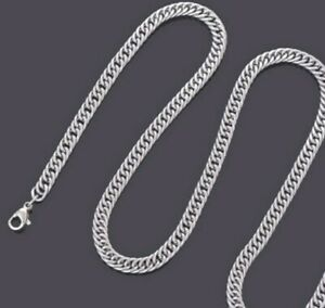 4-8mm-Stainless-Steel-Curb-Chain-Mens-amp-Womens-Unisex-Necklace-18-034-22-034-26-034