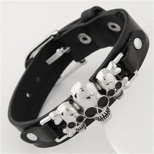 Wide Buckles Style Punk Bracelet Leather Belt Casual Bangle Hip Hop  Bracelet