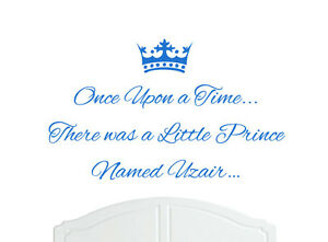 Once Upon a Time Prince Leon Wall Sticker Decal Bed Room Nursery Art Boy//Baby