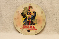 French Sisca Liquor Clock By Henry Le Monnier Retro Advertisement