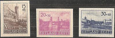 Deutsche Besetzungsausgaben 1939/45 Estland MiNr. 4+5 U (*) + 6 U **  2. Auflage