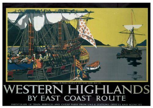 213 Vintage Railway Art Poster
