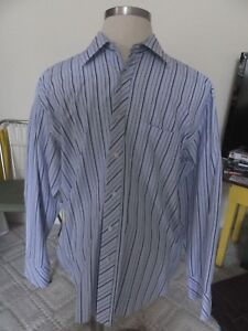 1d7c867404e Mens Ted Baker London 16 1 2x 34-35 Long Sleeve Striped Multi Color ...