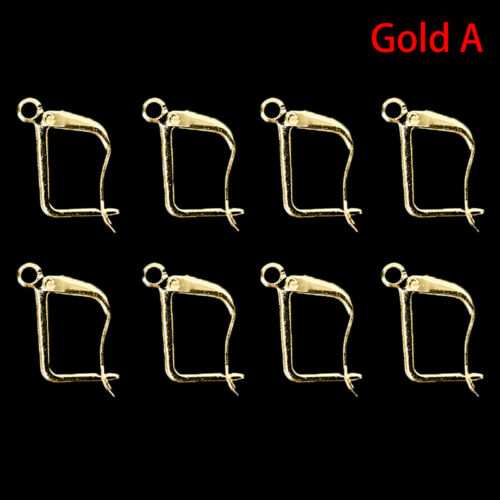 12Pcs Silver//Gold Plated Earrings Hook Coil Ear Wires For Jewelry Making`Finding
