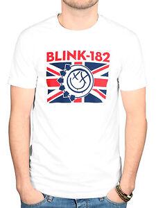 Official Mens Blink 182 UK Flag T-Shirt Enema of the State ...