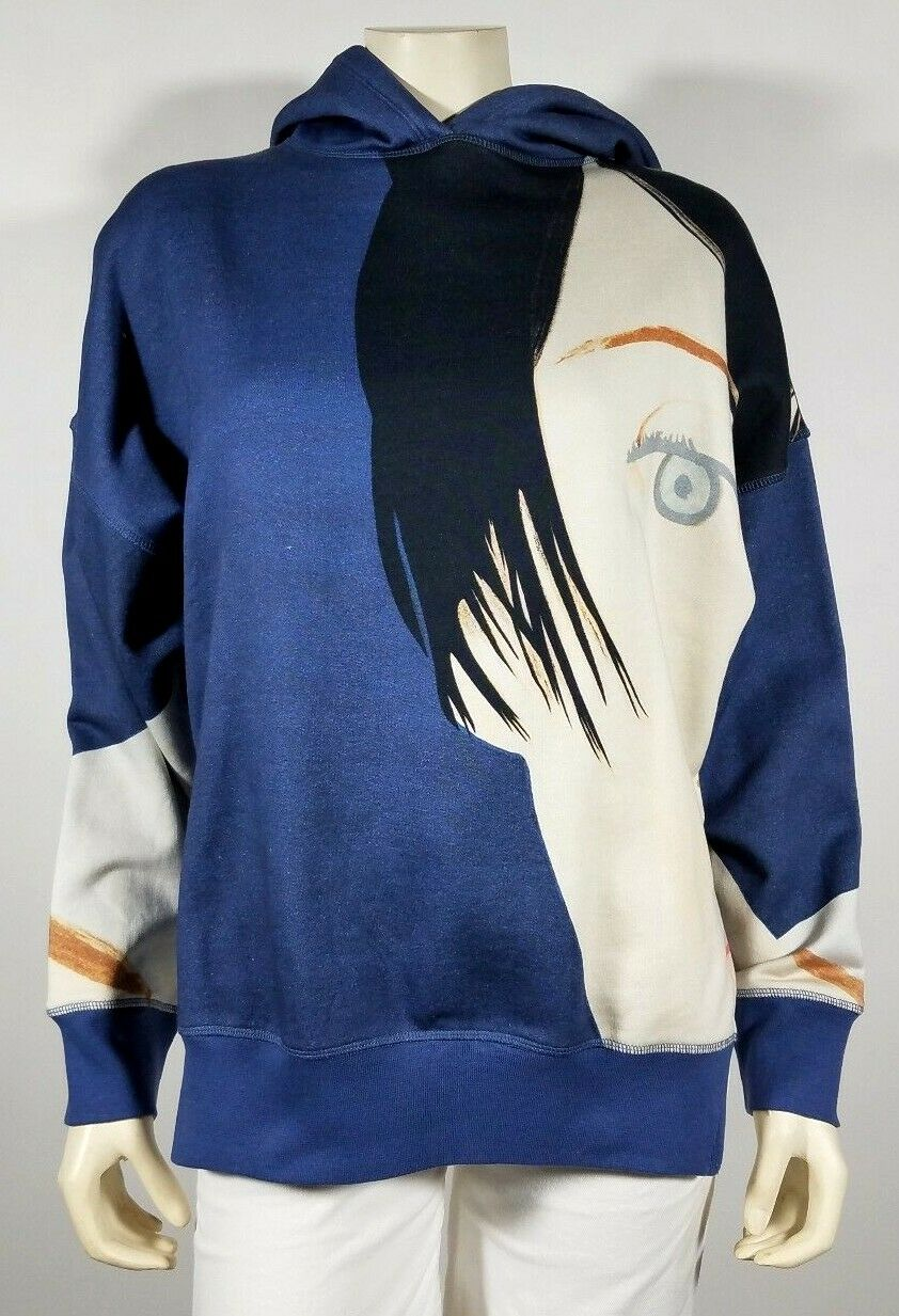 ALEX KATZ HM bluee KYM Hoodie Sweatshirt - size M