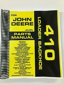 Details about PARTS MANUAL FOR JOHN DEERE 410 BACKHOE LOADER ASSEMBLY  MANUAL PC-1227