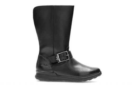 13 de Jnr F 5 negras botas Star Tamaño Reino cuero Clarks del Girls Unido Mariel f1wS7S