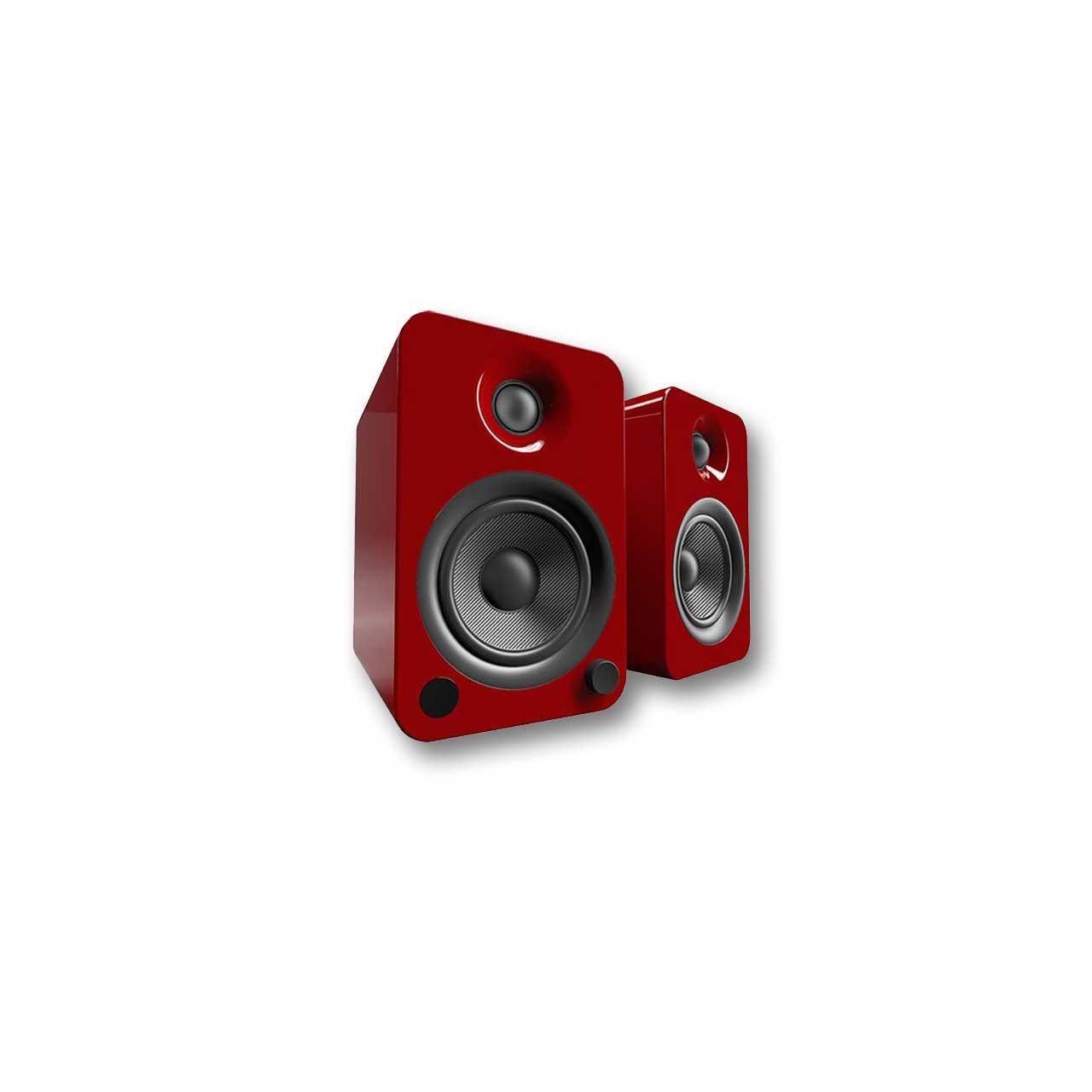 Kanto YU4 Powered Bookshelf Speakers (Gloss Red)