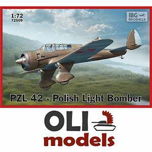 1-72-PZL-42-Prototype-Polish-Light-Bomber-NEW-TOOL-IBG-Models-72509