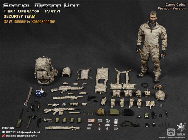 Easy&Simple 1/6 Camo. Gun Special Mission Unit Part VI Security Team Figure