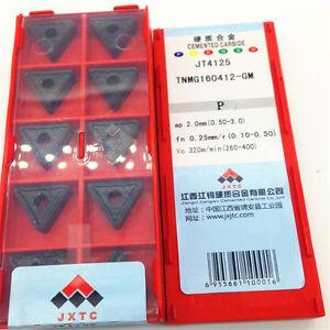 20pcs JXTC TNMG160412-GM JT4125 Carbide Inserts CNC Tools