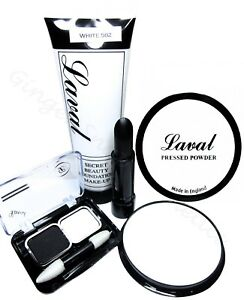Laval-White-amp-Black-4pc-Halloween-Makeup-Set-Kit-Goth-Vampire-Zombie-Ghost-Stage