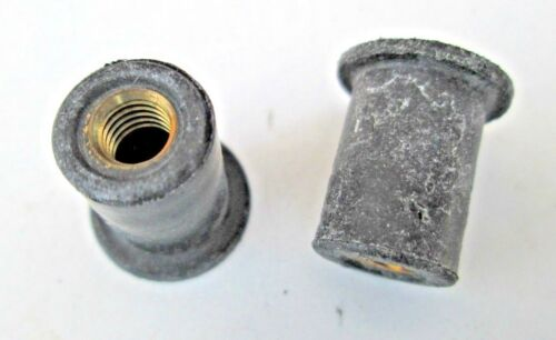 """1//4/""""-20 Well Nuts Mounting Rubber Fasteners 6 5//8/"""" Head 9//16/"""" Stem"""