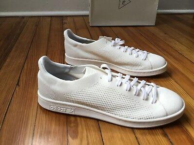 f957cc626 Adidas Pharrell Williams HU HOLI Stan Smith Blank Canvas White Sneakers  DA9611