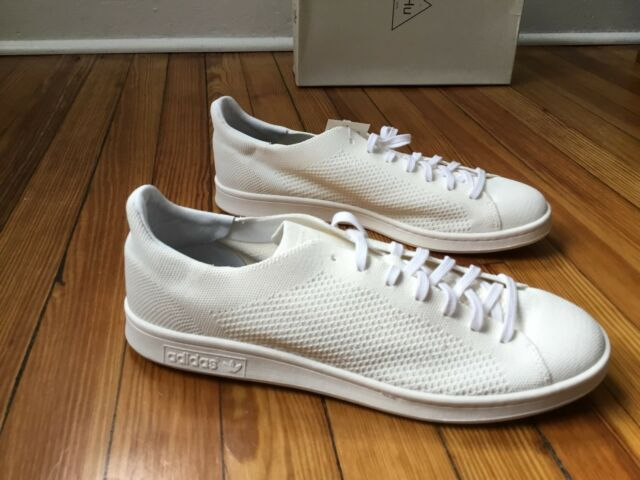newest 34d81 653a7 Adidas Pharrell Williams HU HOLI Stan Smith Blank Canvas White Sneakers  DA9611