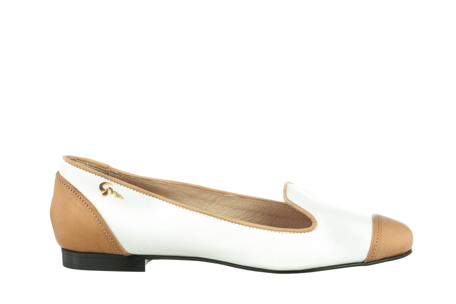 MORI MADE IN ITALY LEATHER SLIP ON FLATS SCHUHE Schuhe BALLERINA LEATHER ITALY Weiß BIANCO 38 451aa3