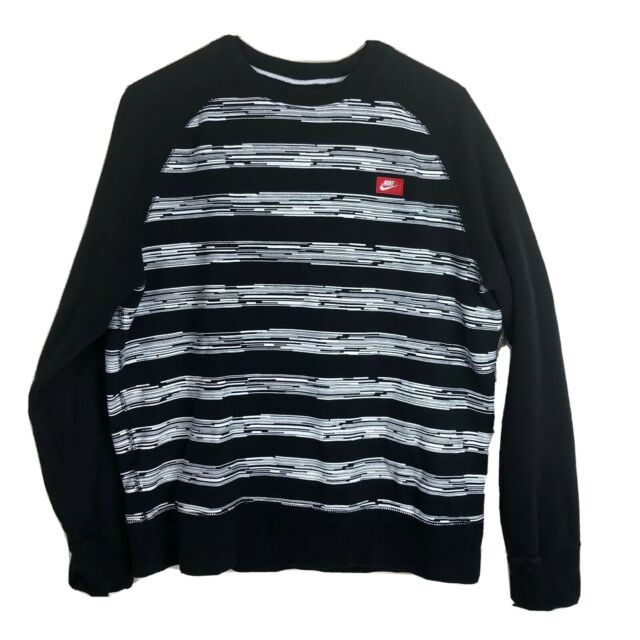NIKE Men/'s AW77 Safari Pullover Hoodie NEW AUTHENTIC Grey-Black 688978-063