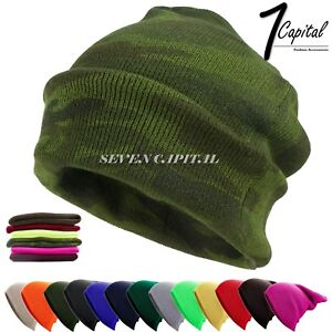 181a9a765b3 Men Women Winter Warm Cuff Plain Beanie Knit Hat Skull Slouchy Ski ...